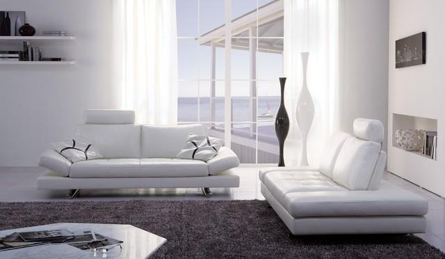 Gertrudes White Sofa - Modern - Living Room - Miami - by El Dorado - el dorado living room sets