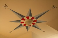Toddler Boy's Nautical Bedroom / Ceiling Compass Mural ...
