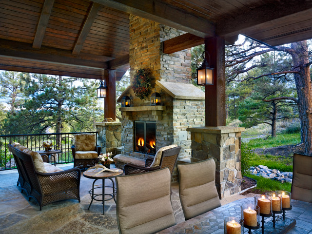 Houzz Bedroom Sets Colorado Mountain Territorial Style - Rustic - Patio