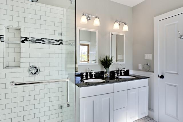 Bathroom Design Ideas white bathroom design with subway tiles - traditional bathroom ideas