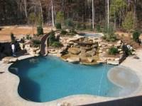 Back Yard Water Slide-Water Fall - Traditional - Pool ...