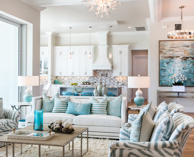 Winterberry Model Living Room - Beach Style - Living Room - Miami - beach style living room