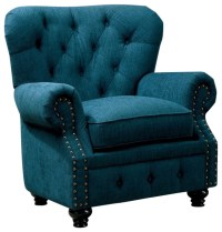Stanford Classic Design Rolled Arms Dark Teal Fabric Arm ...