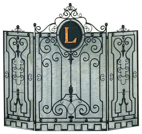 Gate Designed Monogrammed Fireplace Screen by Dr Livingstone I