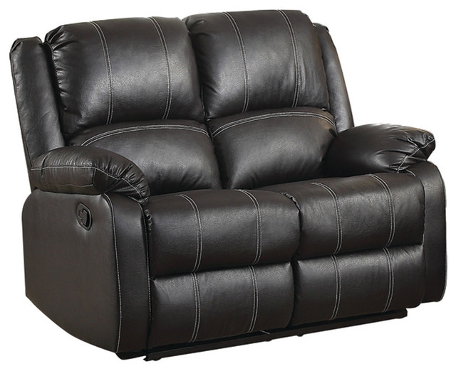 Black Leather Recliner Loveseat Contemporary Loveseats
