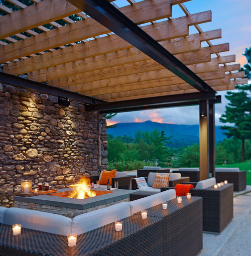 Outdoor Feuerstelle Is It Safe To Have A Fire Pit Under A Gazebo Or Pergola