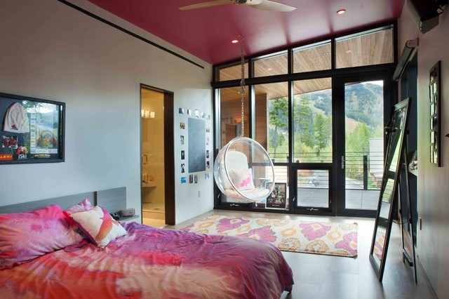 Mountain side Modern Nest modern-bedroom
