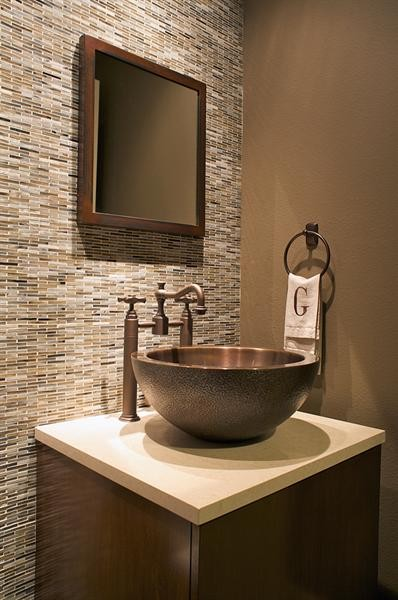 Powder Bath - Modern - Powder Room - Dallas - by Three Graces Interiors