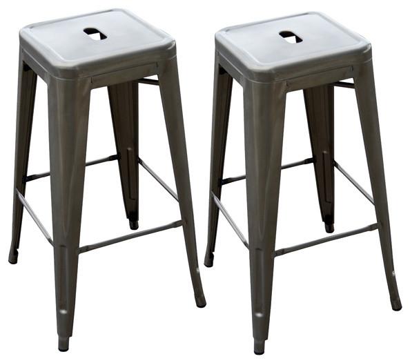 Loft metal bar stool 2 piece bar stools and counter