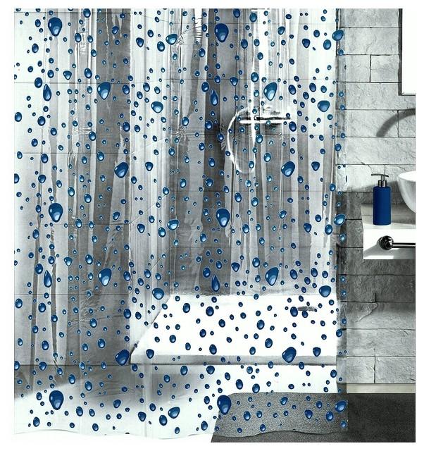 PVC Free Shower Curtain, Bubble Design - Contemporary - Shower