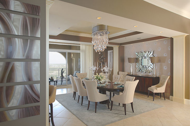 Penny Bowen Designs Living Spaces - Contemporary - Dining Room - living spaces dining room sets