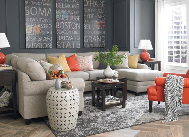 HGTV Home CU2 U-Shaped Sectional by Bassett Furniture - hgtv living room ideas