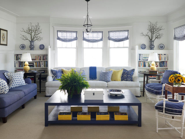 Turn of the Century Cottage - Beach Style - Living Room - Chicago - beach style living room