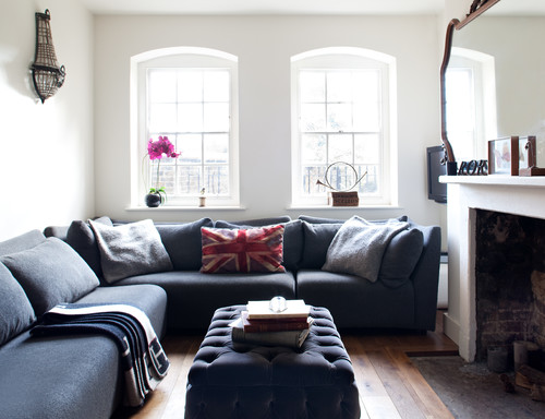 Weekend Design Use Full-Scale Decor to Make a Small Room Feel - small scale living room furniture