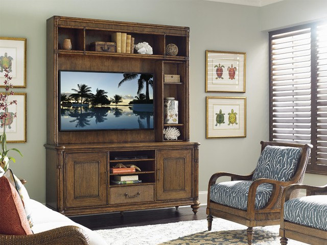 Tommy Bahama Home Bali Hai Pelican Cay Media Console And Hutch - living room hutch
