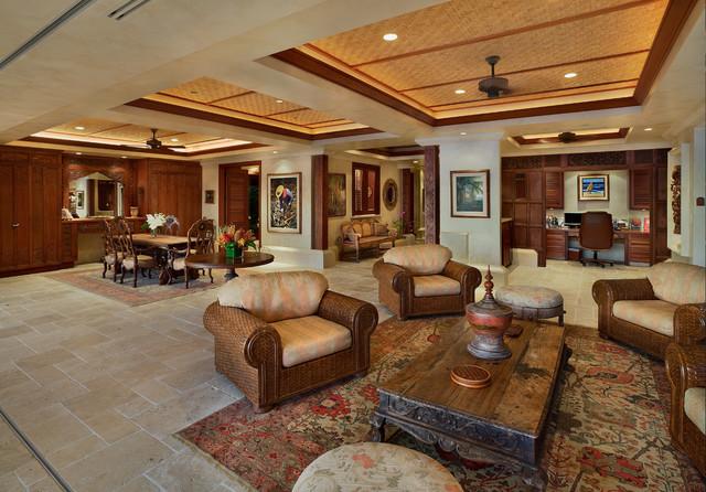 Bali House - Tropical - Living Room - Hawaii - by Rick Ryniak - tropical living room furniture