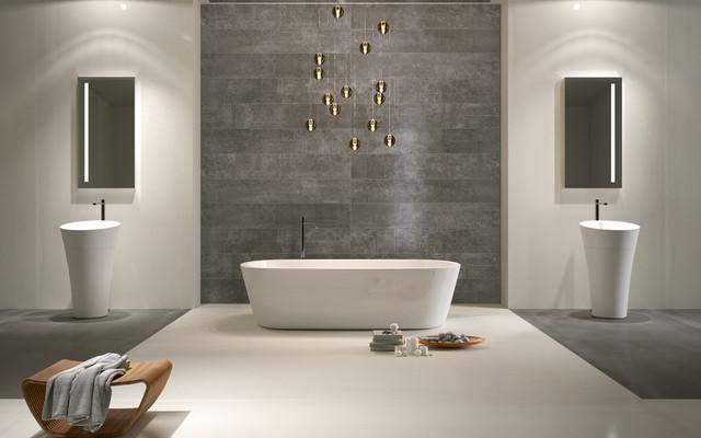 Revêtement mural salle de bain - Contemporain - Salle de Bain