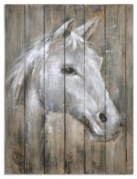 Uttermost - Rustic Reclaimed Wood Horse Wall Art & Reviews ...