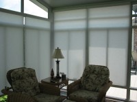 Sunroom Motorized Solar Shades - Rustic - Sunroom ...