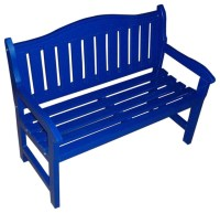 Garden Bench, Berry Blue - Outdoor Benches - by Prairie ...
