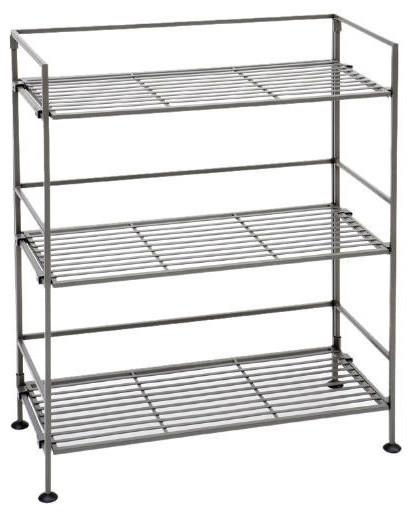 Fastfurnishingscom 3 Shelf Iron Rectangular Folding Metal