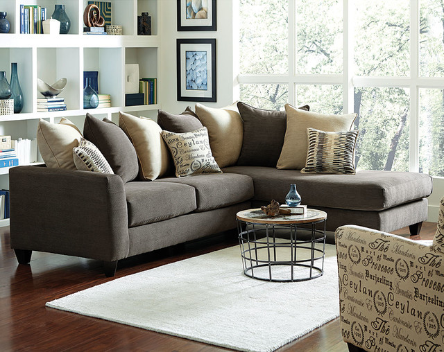Corey 2 Piece Sectional Sofa - Traditional - Living Room - american freight living room sets
