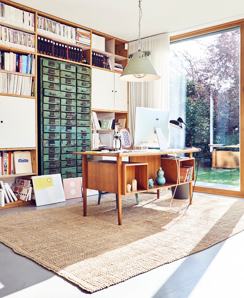 Home Office Hamburg Modern Meets Vinta Ge Eclectic Home Office Hamburg