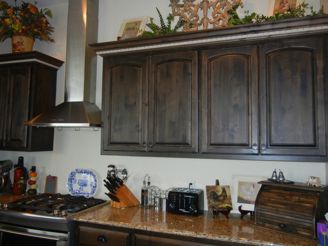 Black Distressed Kitchen Cabinets Photo 7. White Distressed