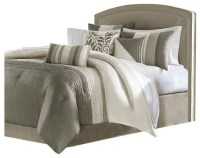 JLA Madison Park Amherst Polyester Comforter Set, Natural ...