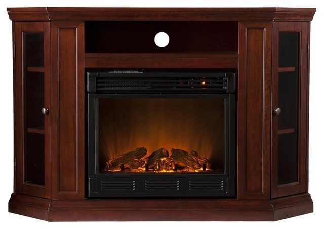 Claremont Convertible Media Electric Fireplace Ivory