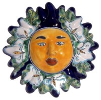 Lily Talavera Ceramic Sun Face - Contemporary - Garden ...