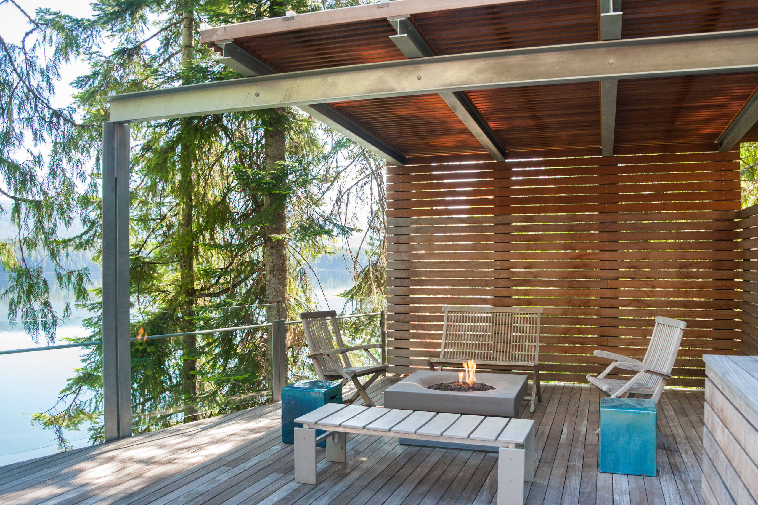 Adam Bresnick 75 Beautiful Contemporary Deck With An Awning Pictures