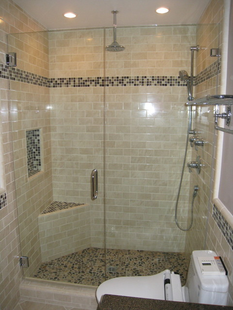 Houzz Showers Subway Tile Shower - Contemporary - Bathroom - San Diego