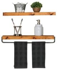 True Floating Wall Shelf and Towel Rack - Industrial ...