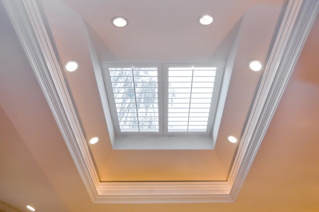 Recessed Lighting For Kitchen Island Skylight With Plantation Shutters Over Kitchen Island