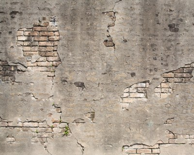 Broken Concrete Wall Mural - Contemporary - Wallpaper - by Brewster Home Fashions