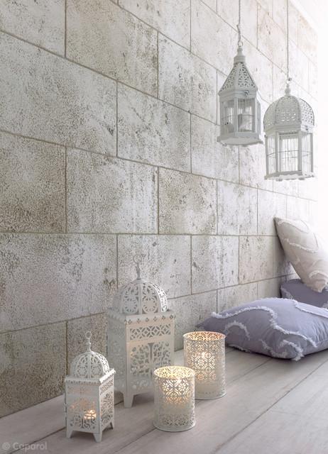 Kreative Wandgestaltung in Steinoptik, Caparol - Modern - Nürnberg - kreative wandgestaltung
