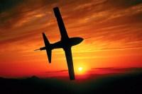 Jet Plane Sunset Silhouette Wallpaper Wall Mural - Self ...