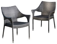 Alameda Outdoor Chairs, Set of 2 - Contemporary - Outdoor ...