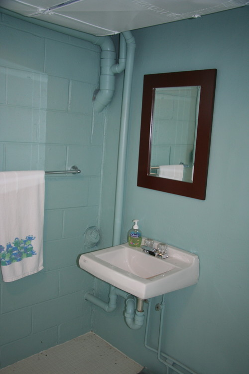 Houzz Rugs Need Help For A Cold, Ugly Indoor Pool Bathroom!