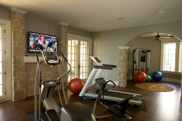 Exercise Room - Traditional - Home Gym - Indianapolis - By
