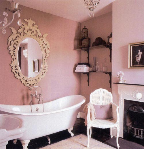 Pink bathroom- apartment therapy - badezimmer pink