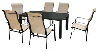 Lizy 7 Piece Dining Set Contemporary Outdoor Dining