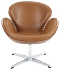 Shop Houzz | Modway Chair, Terracotta Aniline Leather ...