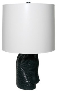 Jonathan Adler Horse Head Lamp, Black Base, White Shade ...