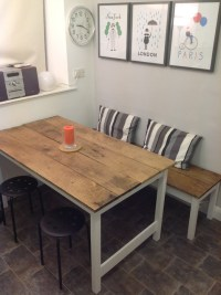 Kitchen table and bench - Contemporary - Dining Tables ...