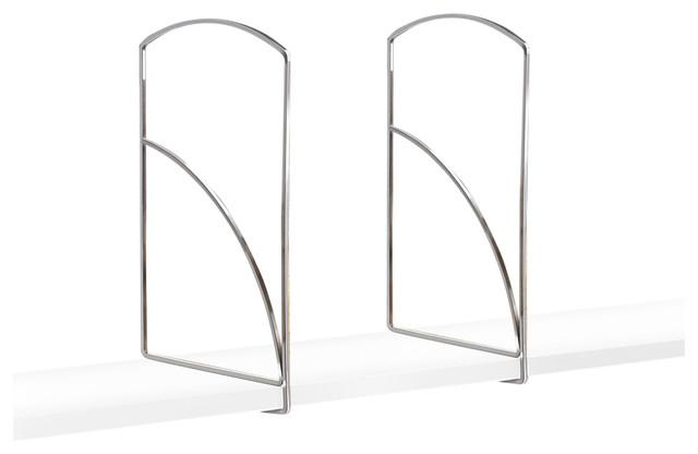 Shelf Dividers Chrome Set Of 2 Tall Closet Organizers
