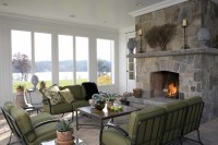 Connecticut Greek Revival - Traditional - Living Room ...