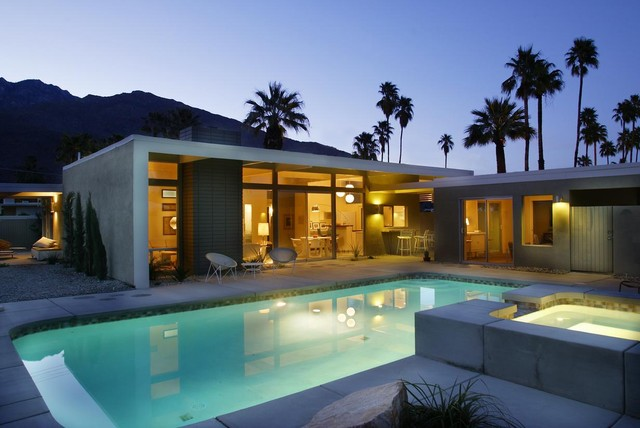 Circular Stone Garden Table Alexander Twin Palms - Modern - Pool - Los Angeles - By