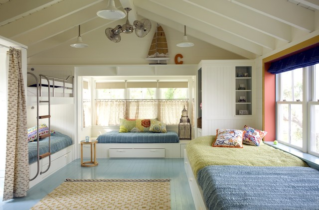Bunk Room - Beach Style - Kids - By Andra Birkerts Design